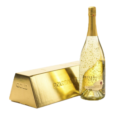 Sampanie cu foite de aur 23 k - Österreich Gold 0,75 L + cutie