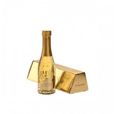 Sampanie cu foite de aur 23 k - Österreich Gold 0,2 L + cutie