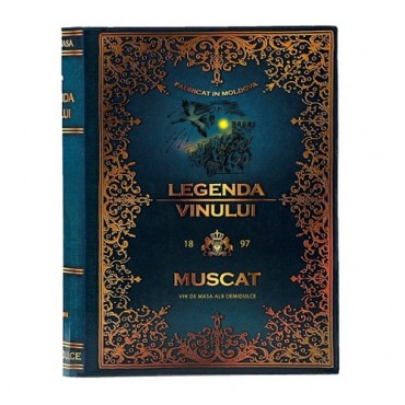 Legenda Vinului - Muscat Vin Alb Demidulce - carte 3 L