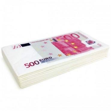 Servetele hartie - imprimate cu bancnota 500 euro